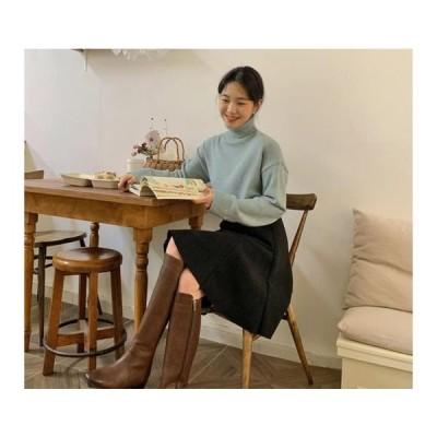 From Beginning レディース ニット/セーター Normal Soft Wool Turtleneck Knitwear