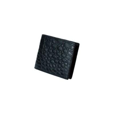 ファゴット クロコダイル 二つ折り札入 ブラック  MJ−09W BLACK