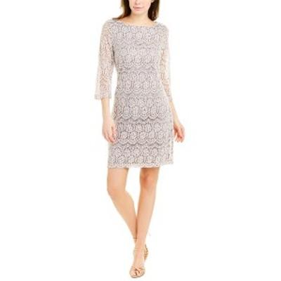 ジェシカハワード レディース ワンピース トップス Jessica Howard Shift Dress taupe and white