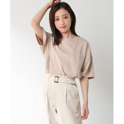 (Honeys/ハニーズ)ポケット付ゆるTシャツ/レディース ベージュ