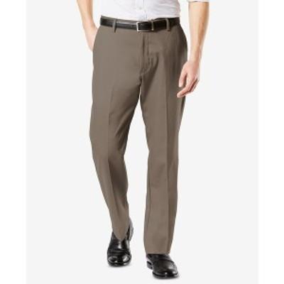 ドッカーズ メンズ カジュアルパンツ ボトムス Men's Signature Lux Cotton Classic Fit Creased Stretch Khaki Pants Dark Pebble