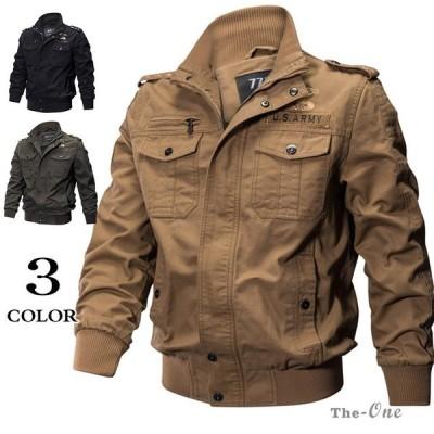 ジャケット ミリタリージャケット メンズ フライトジャケット ブルゾン アウター メンズ服 防寒着 ファッション 50代