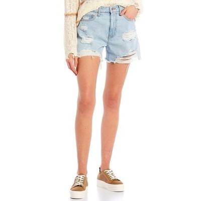 セレブリティピンク レディース ハーフパンツ・ショーツ ボトムス Ultra High-Rise Boyfriend Shorts