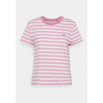 トミーヒルフィガー Tシャツ レディース トップス CLASSICS STRIPE TEE - Print T-shirt - pink daisy