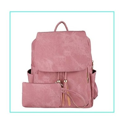 【新品】Cute Casual Leather Backpack Fashion Small Daypacks Purse for Women Backpack,190502Pink(並行輸入品)