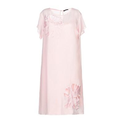 CRISTINAEFFE ミニワンピース&ドレス ピンク 42 レーヨン 100% ミニワンピース&ドレス