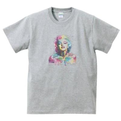 音楽・ロック・シネマ マリリンモンロー Tシャツ グレー