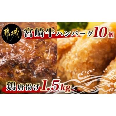 宮崎牛ハンバーグと鶏唐揚げ3.1kgセット_AC-9201
