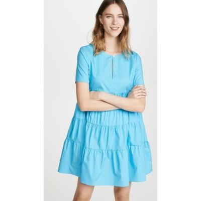 スタウド STAUD レディース ワンピース ミニ丈 ワンピース・ドレス Mini Cocoon Dress Bright Blue