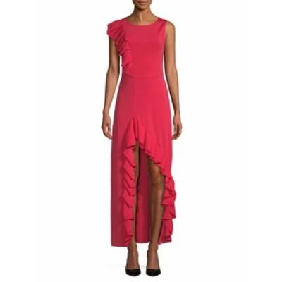 マジェ レディース ワンピース Ruffled Hi-Lo Dress