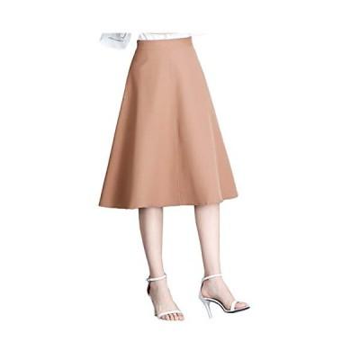 [エムズ モア] 3色展開 膝丈スカート フレア aライン オフィス キレイめ 上品 レディース 夏 春 SXL