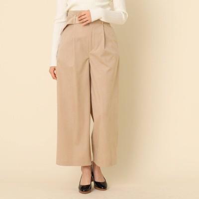 クチュール ブローチ Couture brooch 【手洗い可】コーデュロイベルテッドパンツ (ライトベージュ)