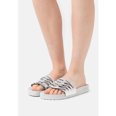 フリップフロップ レディース 靴 シューズ POOL BRAID - Mules - light grey/silver