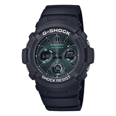 カシオ CASIO 腕時計 AWG-M100SMG-1AJF Gショック G-SHOCK メンズ Black and Green 電波ソーラー 樹脂バンド アナデジ(国内正規品)