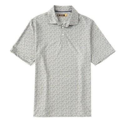 ダニエル クレミュ メンズ シャツ トップス Bottle Print Light Gray Heather Performance Short-Sleeve Polo Shirt