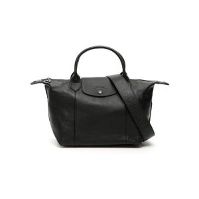 LONGCHAMP/ロンシャン Black Longchamp le pliage cuir small handbag レディース 秋冬2021 L1512757 ik