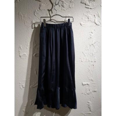 tricot COMME des GARCONS/キュプラギャザー切替スカート/ネイビー[▼]