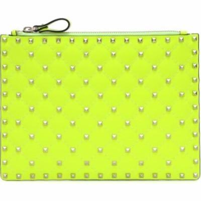 ヴァレンティノ Valentino レディース クラッチバッグ バッグ Garavani Candystud leather clutch Lime
