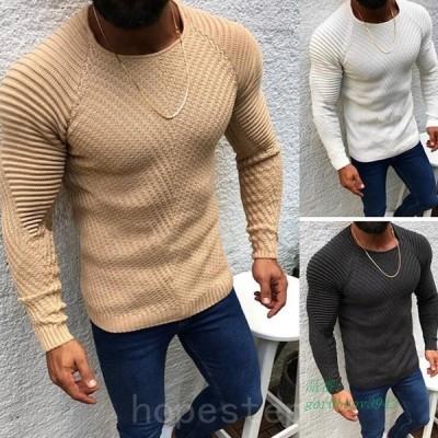 ニットセーター30代ファッションセーター秋冬メンズ紳士用トップスクルーネックニット40代