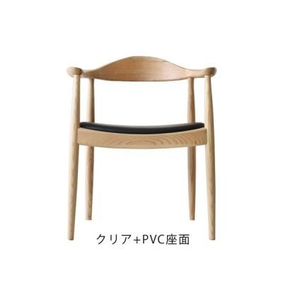 ハンス・J・ウェグナー The Chair(ザ・チェア)クリア+PVC座面 (完成品配送 / 配送エリアにより別途追加送料あり)