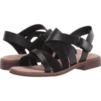 クラークス Clarks レディース サンダル・ミュール シューズ・靴 Declan Mix Black Leather/Nubuck Combi