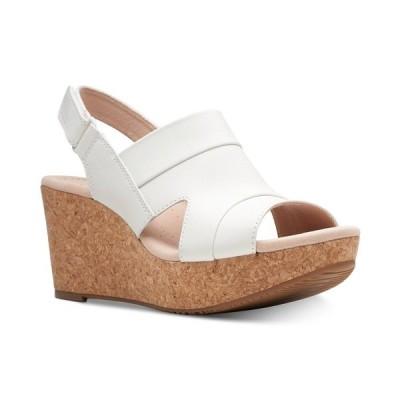 クラークス サンダル シューズ レディース Collection Women's Annadel Ivory Wedge Sandals White