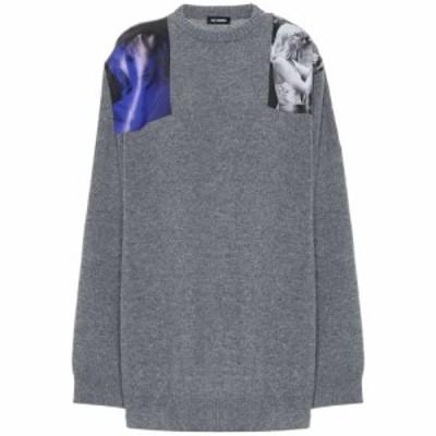 ラフ シモンズ Raf Simons レディース ニット・セーター トップス printed wool sweater Grey