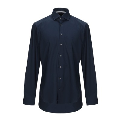 MICHAEL KORS MENS シャツ ダークブルー 37 コットン 98% / ポリウレタン 2% シャツ