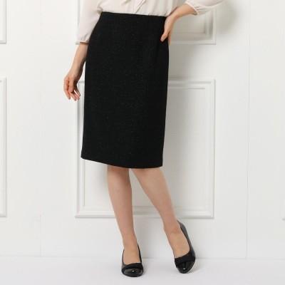 リフレクト Reflect ◆【フォーマル/入卒/ママスーツ】ノーブルツィードスカート (ブラック)