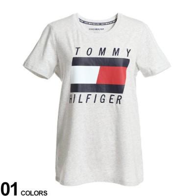 トミー ヒルフィガー レディース TOMMY HILFIGER ロゴ 刺繍 プリント クルーネック 半袖 Tシャツ ブランド トップス TMLTP00574T