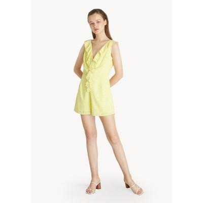 ポメロ Pomelo レディース オールインワン ワンピース・ドレス Dotted Ruffle Romper - Yellow Yellow