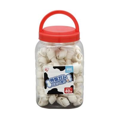 アイリスオーヤマ 骨型ガム ミルク味 ボトル入りS 40本 P-MGB40S ペット用品 ペットグッズ 犬用 おやつ 餌
