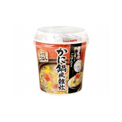まとめ買い 丸美屋 スープdeごはんかに鍋雑炊カップ 69g x6個セット まとめ セット まとめ販売 セット販売 業務用 代引不可