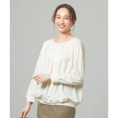 tシャツ Tシャツ 【WEB限定】<closet story>★★□ギャザーネック カットソー -手洗い可能-