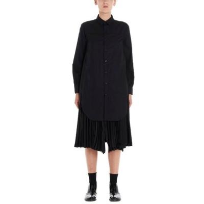 ノワール ケイ ニノミヤ レディース ワンピース トップス Noir Kei Ninomiya Pleated Shirt Dress -
