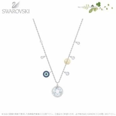 スワロフスキー ルーシー ラウンド ネックレス ブルー 5370500 Swarovski □