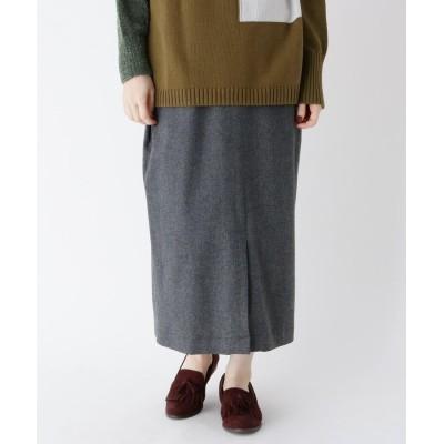 Lui Chantant(ルイシャンタン) ウール混ビッグポケットタイトスカート