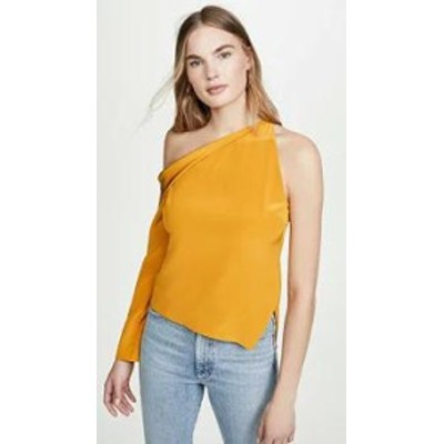 Cushnie レディースシャツ Cushnie Cold Shoulder Top with Single Sleeve Antique Gold