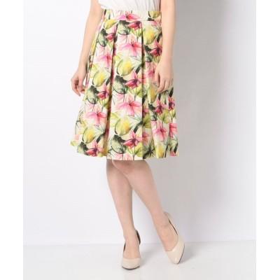 【エリザ】 ビンダフラワープリントスカート レディース ピンク 1号(7号) ELISA