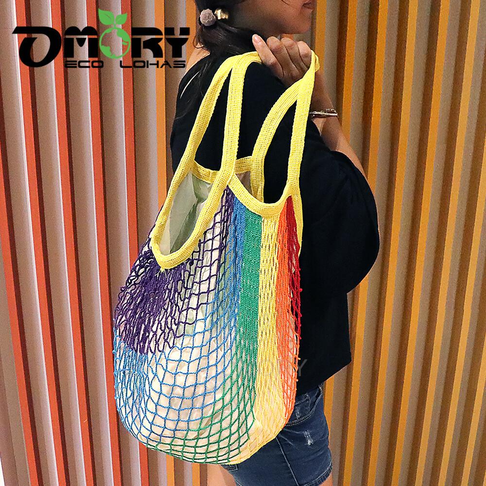 omory編織網狀購物袋-多款任選