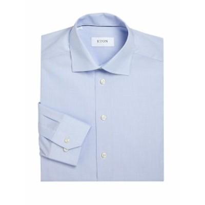 イートン メンズ ドレスシャツ ワイシャツ Regular-Fit Micro Checked Dress Shirt