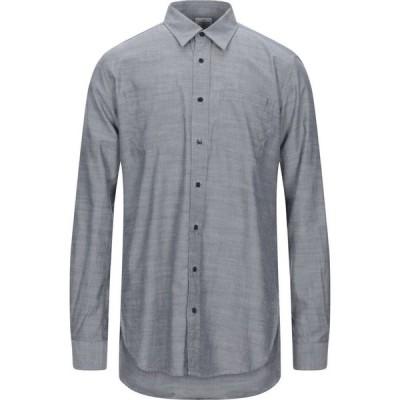 バブアー BARBOUR メンズ シャツ トップス solid color shirt Blue