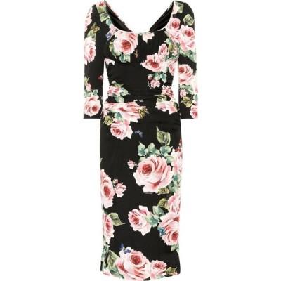 ドルチェ&ガッバーナ Dolce & Gabbana レディース ワンピース ワンピース・ドレス floral-printed silk dress Nero/Pink