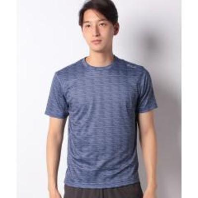 フィラ【FILA】ジャガード異素材切替半袖Tシャツ