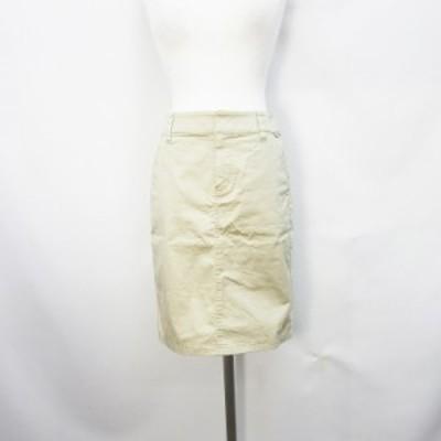 【中古】MK KLEIN ミニスカート ストレッチ 36 Sサイズ相当 ベージュ ●25 レディース