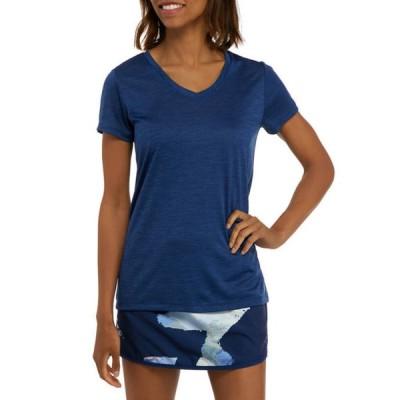 ゼロス レディース Tシャツ トップス Space Dye V-Neck T-Shirt