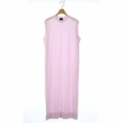 【中古】エイトン 19SS SUVIN COTTON C/N LONG DRESS クニット ノースリーブ ワンピース ドレス ロング 02 ピンク