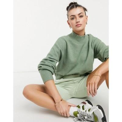 アンドアザーストーリーズ レディース ニット&セーター アウター & Other Stories mock neck sweater in khaki Khaki