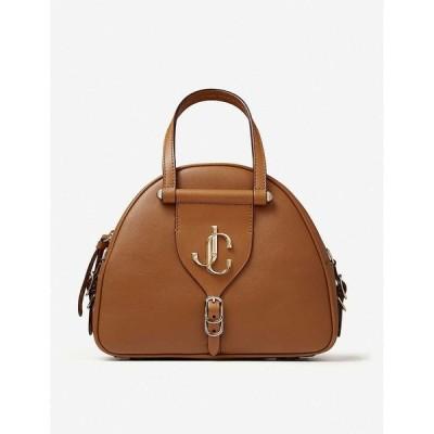 ジミー チュウ JIMMY CHOO レディース ハンドバッグ ボーリングバッグ バッグ Varenne leather bowling bag LATTE/LATTE