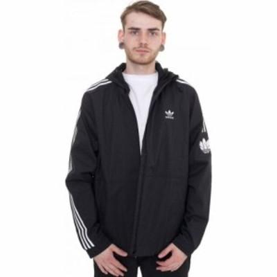 アディダス Adidas メンズ ジャケット ウィンドブレーカー アウター - 3D Black - Windbreaker black